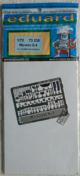 Eduard 1/72 73238 Westland Wyvern S.4 Etched Metal Set